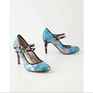 Anthropologie Miss Albright Specialty Ikat Heels